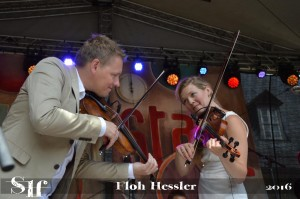 HARALD HAUGAARD und HELENE BLUM beim Rudolstadt-Festival 2016